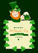St. Partick day greeting card