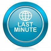 last minute blue icon