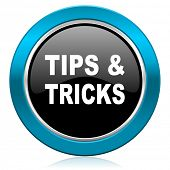 tips tricks glossy icon
