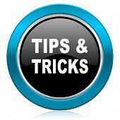 tips tricks glossy icon