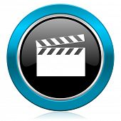 video glossy icon cinema sign