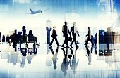 picture of terminator  - Airport Travel Business People Terminal Corporate Flight Concept - JPG