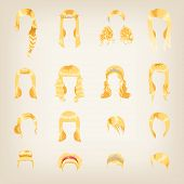 Assortment Of Female Blond Hair