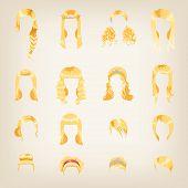 Assortment Of Female Blond Hair