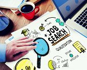 Job Search Application Career Planning Woring Concept