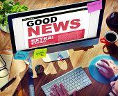 Digital Online Update Good News Concept