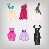 Set Of Gorgeous Dresses