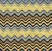 Zigzag lines Burlap Rustic Jute Background