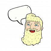 cartoon man with beard laughing with speech bubble