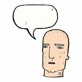 cartoon serious bald man