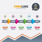 stock photo of not found  - Timeline infographic with arrows - JPG