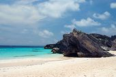 image of horseshoe  - View of the beach Horseshoe bay Bermuda - JPG