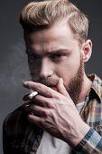 Man Smoking.