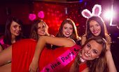 Pretty friends on a hen night at the nightclub