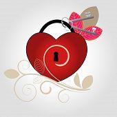 Keys to my Heart with flourish