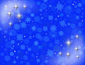 White Snowflakes On The Blue Background