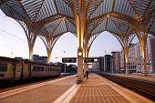 Platform Oriente Station In Lisbon
