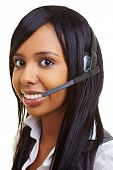 Student In A Callcenter With Headset