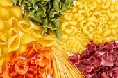 Background Of Different Types Of Pasta