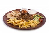 picture of shawarma  - Shawarma dish isolated on a white background - JPG