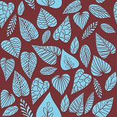 picture of marsala  - Drawn leaves background with Marsala color - JPG