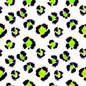 stock photo of leopard  - Seamless pattern of leopard spots - JPG