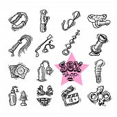 picture of dildo  - Set of beautiful hand - JPG