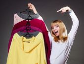 foto of clothes hanger  - Retail and sale - JPG