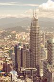 picture of klcc  - City skyline panorama in Kuala Lumpur - JPG
