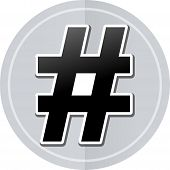pic of hashtag  - Illustration of hashtag sticker icon simple design - JPG