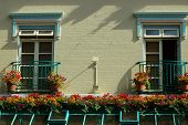 Colorful Balconies With Flowerpots