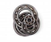 pic of bearings  - Bearings on a white background - JPG