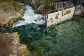 stock photo of thermal  - Image of picturesque thermal springs in Thermopiles Greece - JPG