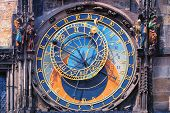 stock photo of chimes  - Famous astronomical clock astronomical clock with chimes and sculptures in Prague