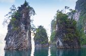 image of dam  - The famous dam in Surat Thani Thailand - JPG