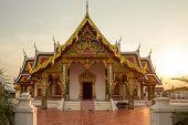 stock photo of chums  - Buddhist templeWat Phra That Choeng Chum Master royal monastery of Wat province - JPG