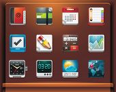 Mobile devices apps/services icons
