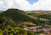 Caldeira na ilha de São Jorge
