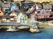 foto of popeye  - old wooden fishing village houses and dwellings - JPG