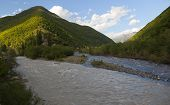 Black Aragvi And White Aragvi Rivers. Georgia.