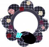 Purp Flower Frame