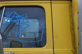 Vandalism School Bus Urband Gang Graffiti