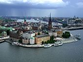 View Of Stockholm, Sweden'S Old Town Before The Storm
