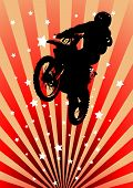 Moto Cross Rider, With Spatters