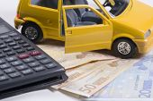 Car Money And Calculator