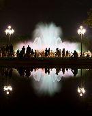 Fonte mágica de Montjuic Show em Barcelona