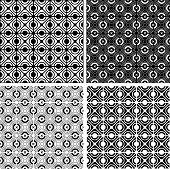 Seamless checked crisscross patterns set.