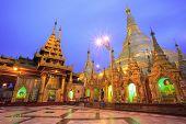 Shwedagon pagoda at twilight, Yangon,Myanmar