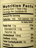 image of high calorie foods  - High fat content food labeling high calories - JPG