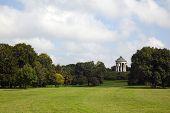 Munich, Englischer Garten Park With Monopteros Temple